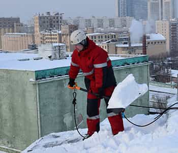 Очистка кровли от снега стоимость работ